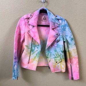 NWT Unif I dye moto jacket size small
